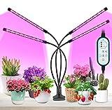 MOREASE Lampes de croissance et horticoles,4 Tube LED Éclairage pour plantes,3 Mode...