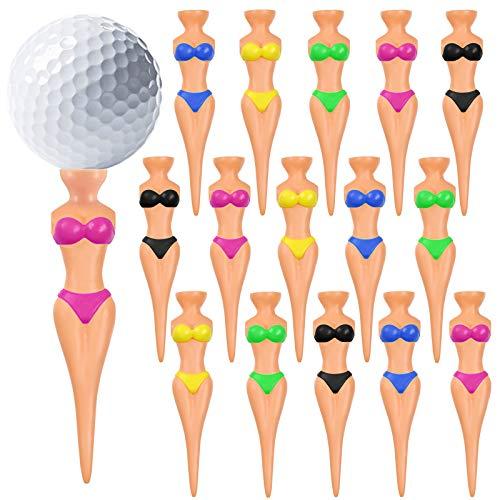 15 Stück Golf Tees kunststoff,Golf tees gummi,Golf Tees Zubehör,Premium Golf Tees,Tees für Golf Training,Golf Tees holz,Golf Tees bambus,Golf Tees lang,Damen Golf Tee,Golf Trainings Tees