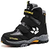 Botas de senderismo Botas de nieve Zapatos de Senderismo para Niños(5 Gris/Amarillo,25 EU)