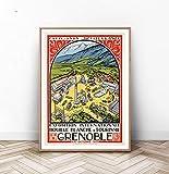 GRENOBLE Reise-Poster, Paris Wandkunst, Schweizer