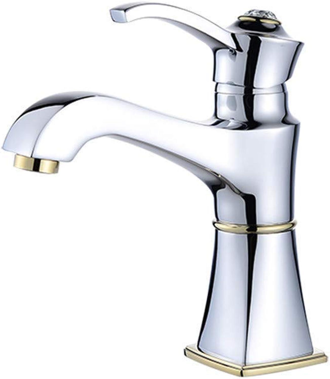 Wasserhahn Küche Waschbecken Badezimmer Kupferner heier und kalter Bassin-Hahn-Badezimmer-Gegenbassin-einzelnes Loch-einzelner Hahn