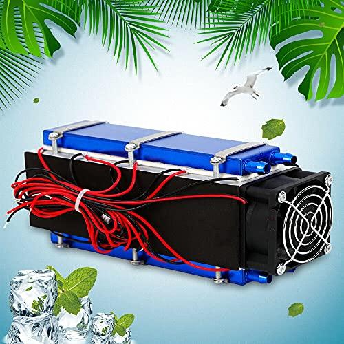 Refrigerador termoeléctrico de 12 V, dispositivo de refrigeración por aire por soplador, sistema de refrigeración por agua termoeléctrica