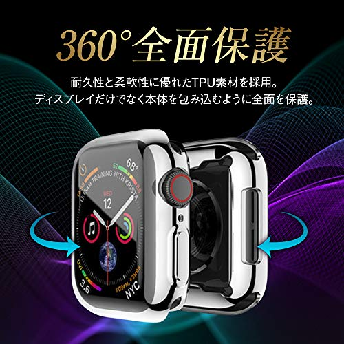 AppleWatchアップルウォッチフルカバーケースグレーGray40mm/Series6Series5Series4SEケースカバー全面保護耐衝撃