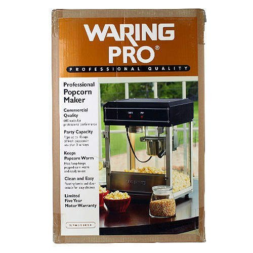Fantastic Deal! Waring Pro Professional Popcorn Maker Model WPM55BKSA