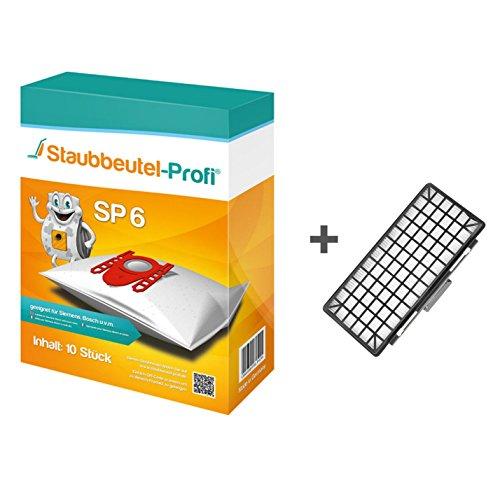10 Staubbeutel + HEPA-Filter geeignet für Bosch BGL8SILM1 von Staubbeutel-Profi®
