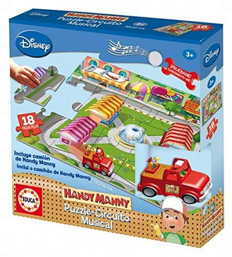 Educa Borrás Juegos Disney - Juego Puzzle Circuito Musical Manny Manitas 14596