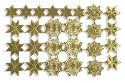 Kunze A060749011 Orden Sterne Set, 26 Stück, Geprägtes Papier, Gold