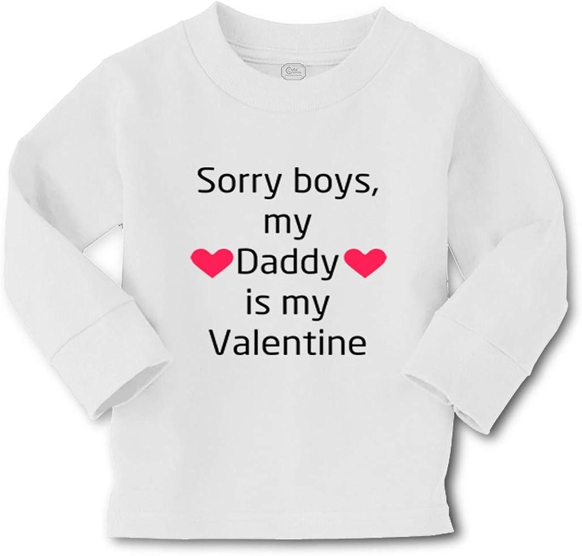 Custom Kids Long Sleeve T Shirt Sorry Daddy Valentine Dad Boy & Girl Clothes