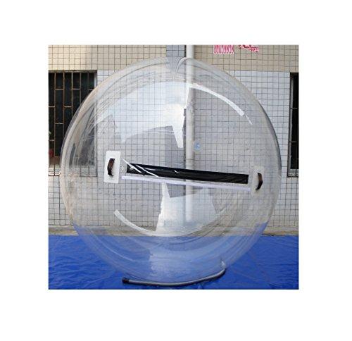 Water Ball 2 o 3 Metros - PVC Tarpaulin y de TPU Poliuretano - Esfera acuática Agua - Hinchable acuático - Water Zorb Ball, Water Games (B - Material TPU 2 m)