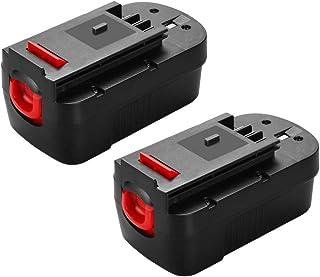 Murllen - Batería de repuesto para Black&Decker 18 V HPB18 HPB18-OPE 244760-00 FS18FL FSB18 Firestorm Power Tool (2 unidades)
