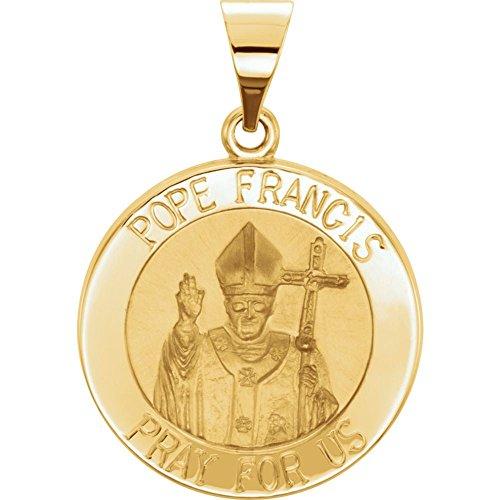 Medalla hueca de Papa Francisco modelo 1oAnVq5 de oro amarillo