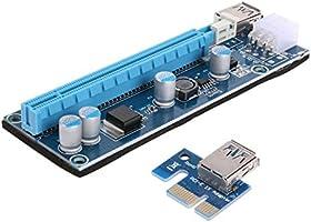 PCI-E 1x to 16xSata 6 pin Riser Ekran Kartı Yükseltici