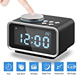 Digitaler Wecker, Eaiitty Radiowecker Digital Funk mit FM Radio | Dual-Alarm | Dual USB-Ladeanschluss | Schlummerfunktion | Innenthermometer | 6-stufige Helligkeit | Batterie-Sicherung |...