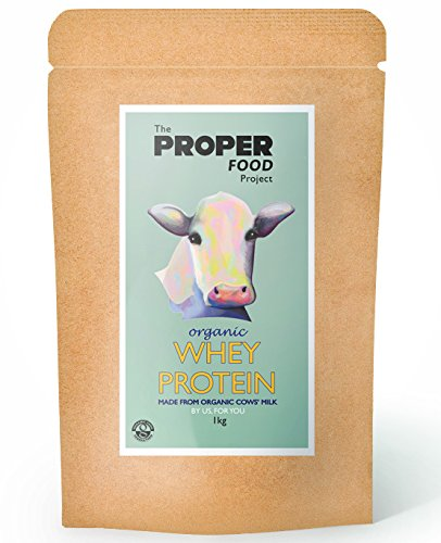 Organic Whey Protein Powder - 100% Grass Fed, Hormone Free, Gluten Free (1kg) Free DELIVERY
