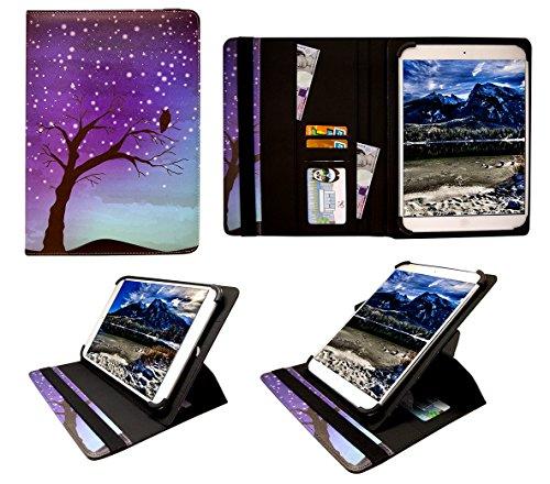 Sweet Tech Odys Neo Quad 10 Inch Tablet Nachthimmel Universal 360 Grad Wallet Schutzhülle Folio mit Kartensteckplätzen (9-10 Zoll