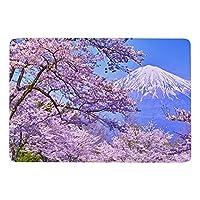 桜の花と富士山 カーペット ラグ ラグマット 洗える 滑り止め オールシーズン おしゃれ 居間用 食卓用 150×100cm