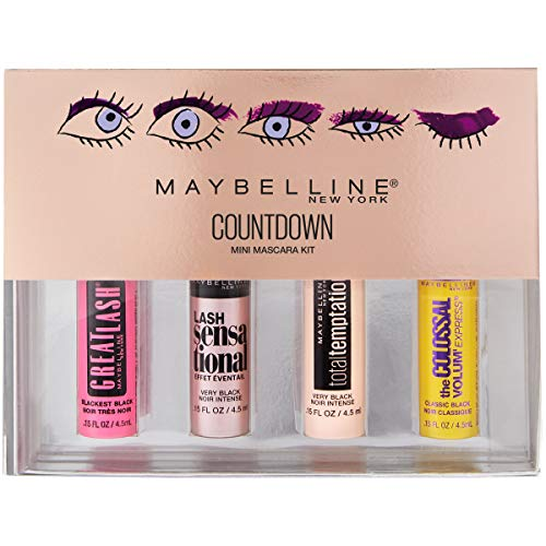 Maybelline New York Makeup Countdown Holiday Mini Mascara Kit, Black