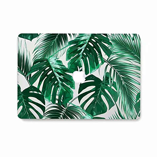 MacBook Air 13 Case, AQYLQ Super Thin Rubberized Coated Laptop Cover Shell Protective for Apple 13 inch MacBook Air 13.3' Model A1466 / A1369, ZLY-9 palm leaf