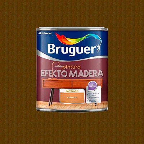 BRUGUER Esmalte Efecto Madera MADERFIN Roble 750 ML, Robre Claro