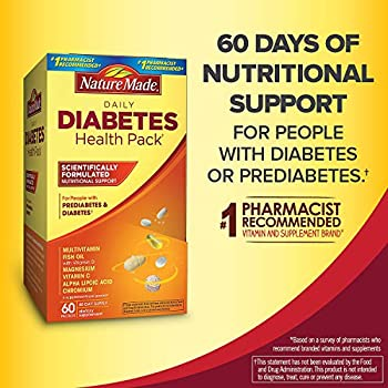 Nature Made Diabetes Health Pack Nutritional Support for Diabetes and Pre-Diabetes  6 Different Vitamins   120 Packets