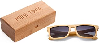3f8e620a34 Mini Tree Gafas de sol de bambú clásicas polarizadas vintage para hombres/mujeres  de montaje