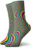 tyui7 Niños Niñas Locos Divertidos Psicodélicos Trippy Rainbow Calcetines Calcetines Lindos de Novedad