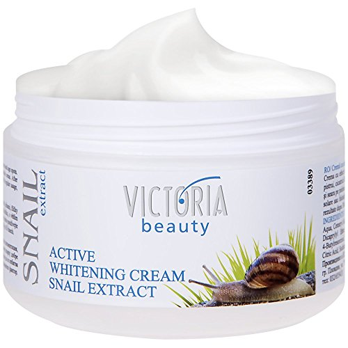 Victoria Beauty - Aufhellende Creme mit Schnecken-Extrakt, Anti Aging Whitening Cream gegen Altersflecken, Dunkle Flecken Aufheller (1 x 50 ml)