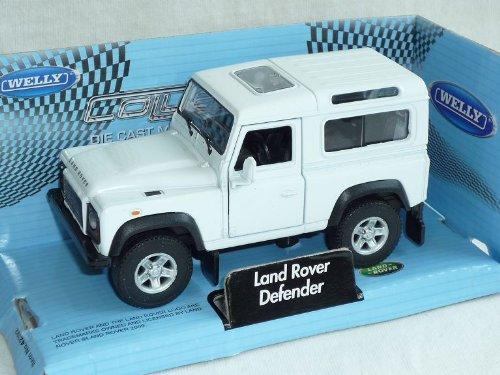 Welly Land Rover Defender 3 TÜrer Weiss Ca 1/43 1/36-1/46 Modellauto Modell Auto