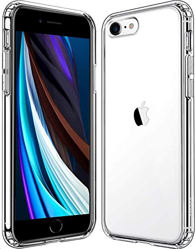 Mkeke Compatible with iPhone SE Case 2020, Crystal Clear Case for iPhone 8 Case and iPhone 7 Case