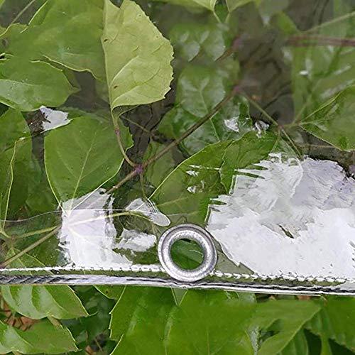 HCYTPL dekzeil, transparant, waterdicht, zware zeilen voor tuintent, tuintent, bodemtent, afdekking voor aanhangwagen, 0,3 mm