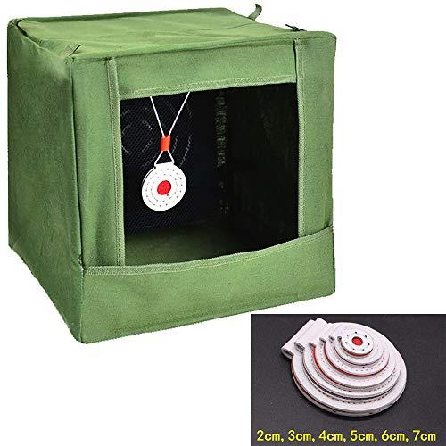 Caja Objetivo de tirachinas Practique el Juego competitivo Caja de Blanco Antideslizante Resistente al Desgaste de los Ojos de Toro Practique la Caja Silencioso