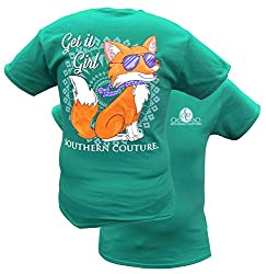 Southern Couture Fifi the Fox Short-Sleeve Tee Shirt
