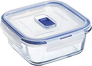 Luminarc Pure Box Active - Boîte de Conservation hermétique en verre, carré, 0.76 L