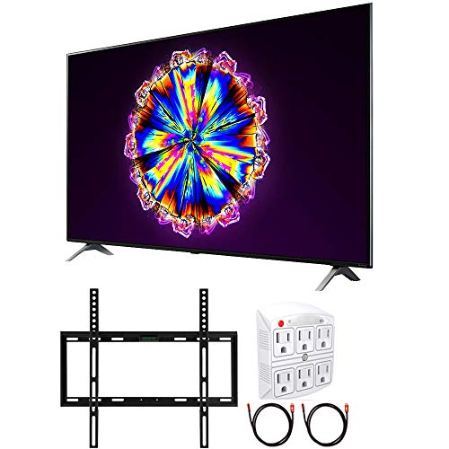 LG 65-inch 65NANO90UNA Nano 9 Series Class 4K Smart UHD NanoCell TV with AI ThinQ (2020) Cinema HDR Bundle with TaskRabbit Installation Services + Deco Gear Wall Mount + HDMI Cables + Surge Adapter