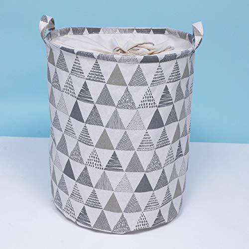 Mdsfe Home Dirty Kleidung Korb Stoff Spielzeug Aufbewahrungseimer Wasserdicht Faltbarer Aufbewahrungskorb Cartoon Wäschekorb Wäschekorb - Dreieck Balken Mund