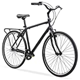 sixthreezero Explore Your Range Men's 3-Speed Commuter Hybrid Bike, 700x38c Wheels, Matte Black, 18'/One Size