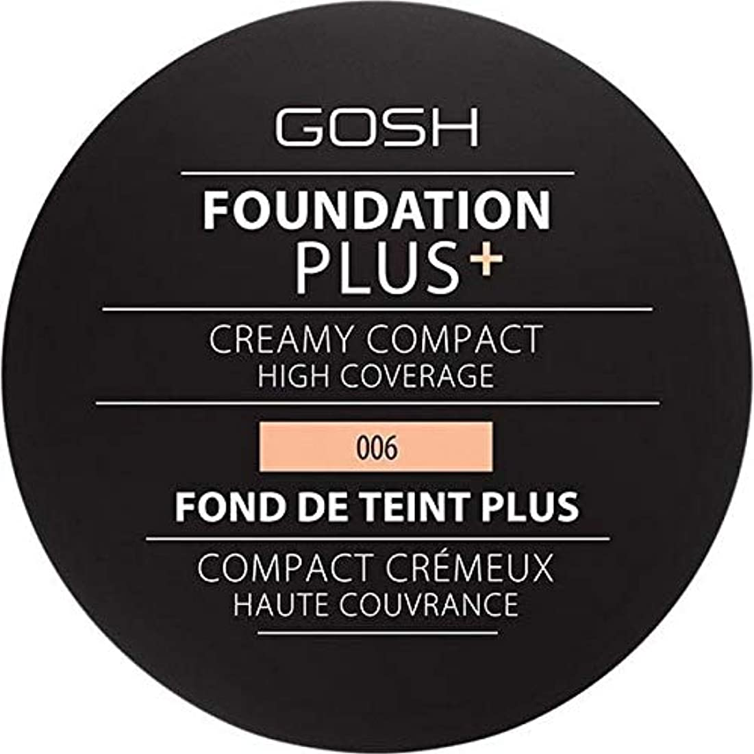 パウダージョージエリオット法王[GOSH ] 基礎プラス+クリーミーコンパクト蜂蜜006 - Foundation Plus+ Creamy Compact Honey 006 [並行輸入品]