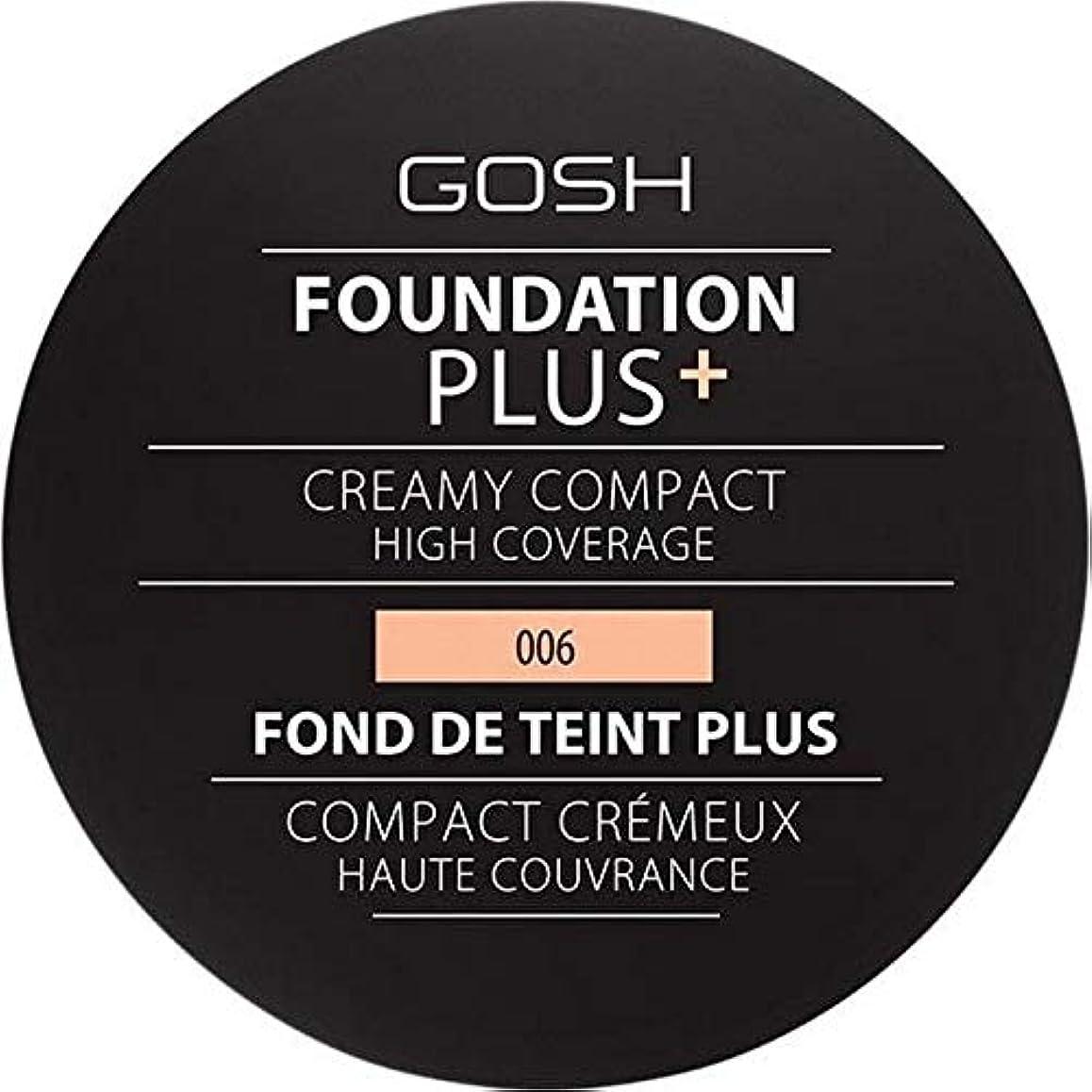 遮るうなり声煙突[GOSH ] 基礎プラス+クリーミーコンパクト蜂蜜006 - Foundation Plus+ Creamy Compact Honey 006 [並行輸入品]