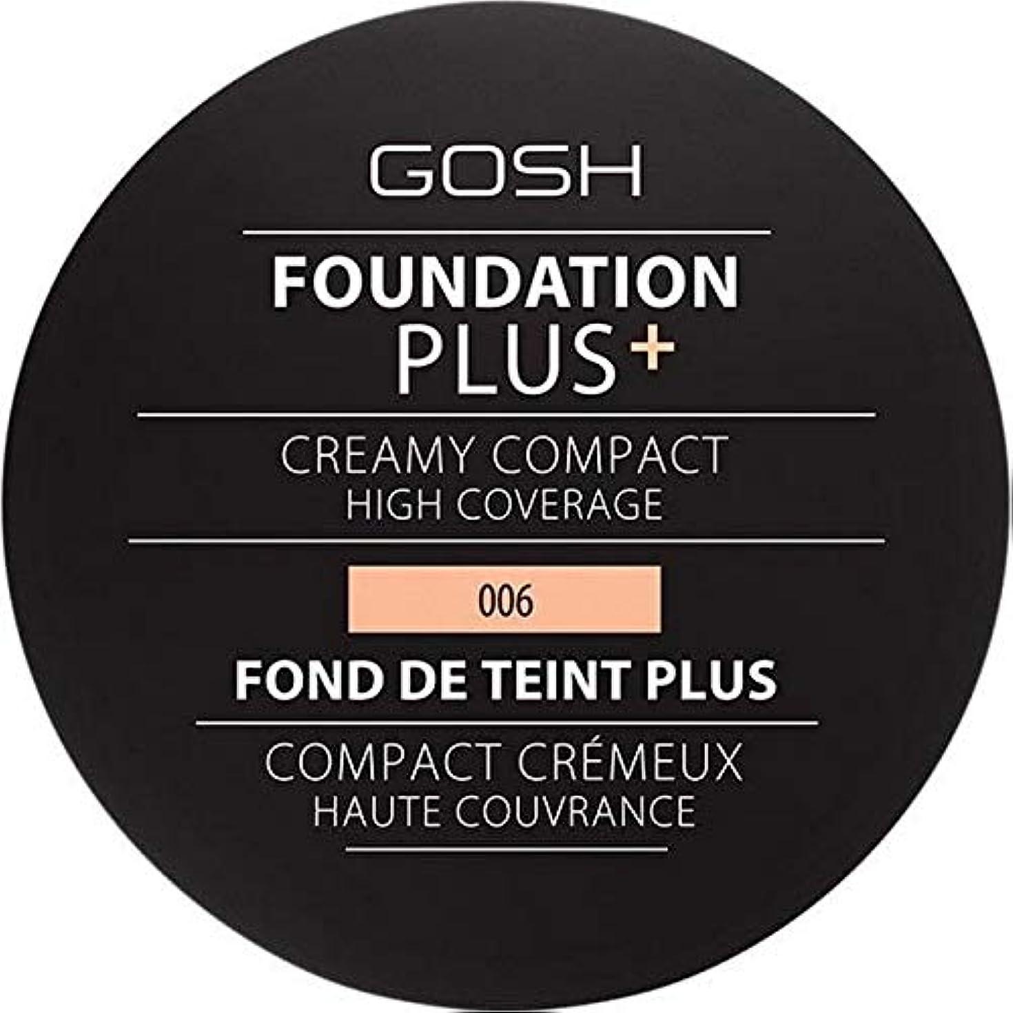 落ちた情報スチール[GOSH ] 基礎プラス+クリーミーコンパクト蜂蜜006 - Foundation Plus+ Creamy Compact Honey 006 [並行輸入品]