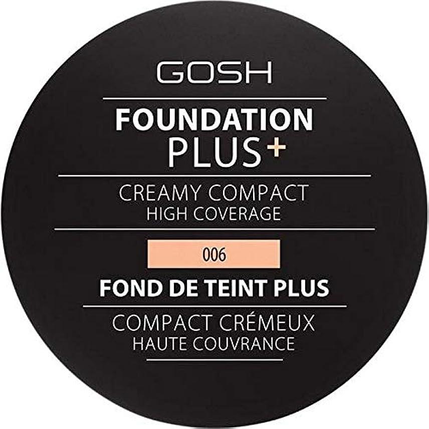 マウスピース性格厚さ[GOSH ] 基礎プラス+クリーミーコンパクト蜂蜜006 - Foundation Plus+ Creamy Compact Honey 006 [並行輸入品]