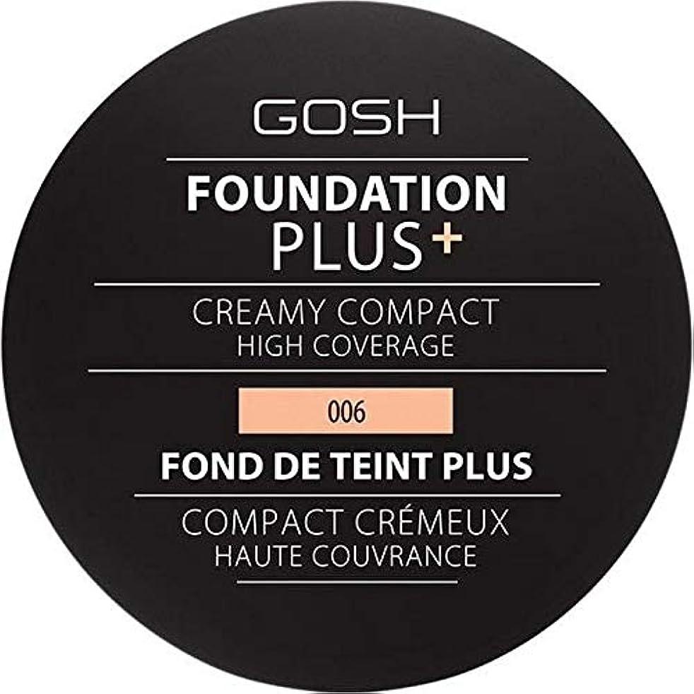 吸う湿原油[GOSH ] 基礎プラス+クリーミーコンパクト蜂蜜006 - Foundation Plus+ Creamy Compact Honey 006 [並行輸入品]