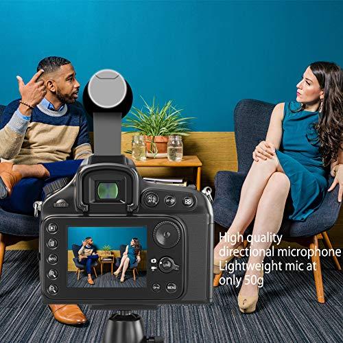 Videomikrofon für DSLR-Interviews, Kamera Mikrofon Shotgun-Mikrofon für Canon, Nikon, Sony, Panasonic, Fujifilm, Videomikrofon mit Windschutz, 3.5 mm Klinke