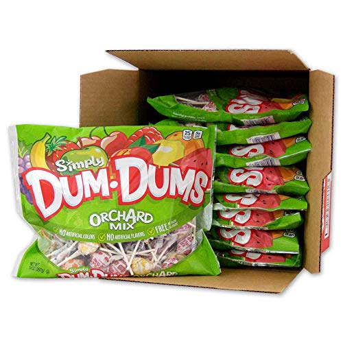 Dum Dums Lollipops, Simply Orchard Mix, 14-Ounce Bags (Pack of 9)