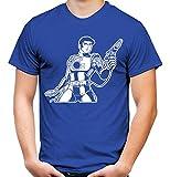 Desconocido Camiseta para Hombre y Hombre, diseño de Capitán Future, superhéroe, Retro, Dibujos Animados Azul M