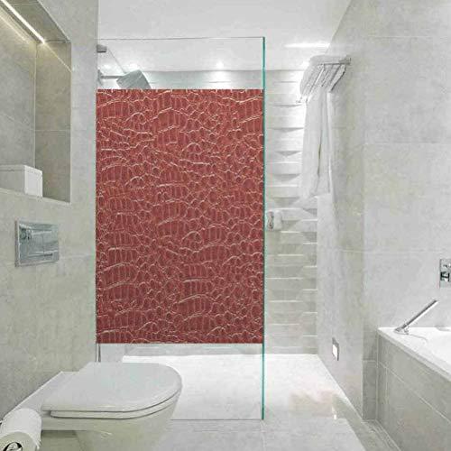 DIY Home Decoration Glass Stickers Window Folie, Animal Print Collection Croco Skin Design, for Home Glass Film for Bathroom Meeting Living Ro, 45 cm B x 199,9 cm L