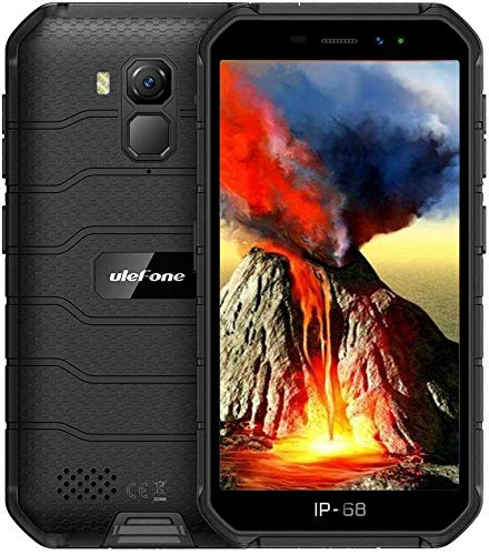 Ulefone ARMOR X (2020) 4G Rugged Smartphone MTK6761 Octa-Core 2GB + 16GB, Teléfono Resistente IP68 Impermeable Android 10.0, Dual SIM, Batería 4000mAh, NFC GPS Negro