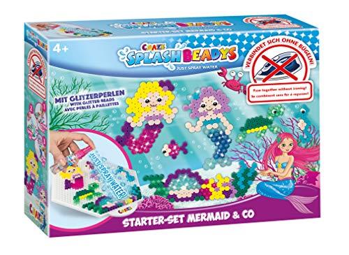 CRAZE Splash BEADYS Mermaid & Co. Meerjungfrau Steckperlen Bügelperlen ohne Bügeln Starter Bastelset 20609, bunt