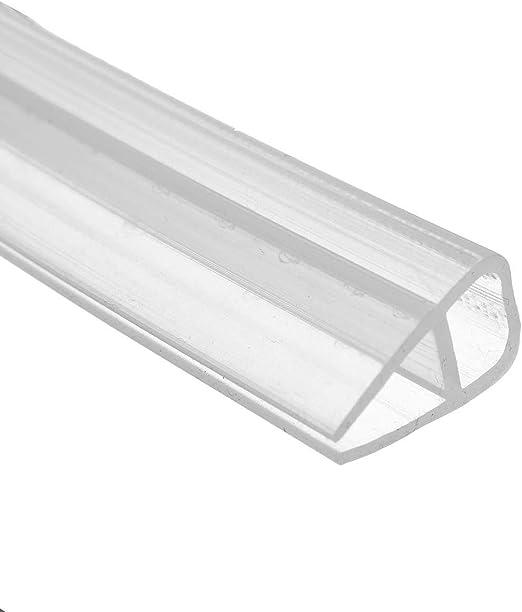 Junta para puerta de ducha 200 cm F Shape repelente de agua puerta de cristal para vidrio de 6 mm//8 mm//10 mm//12 mm de grosor