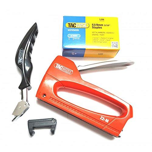 Tacwise Z2-M - Grapadora manual con Guia de grapado, quitagrapas profesional y...