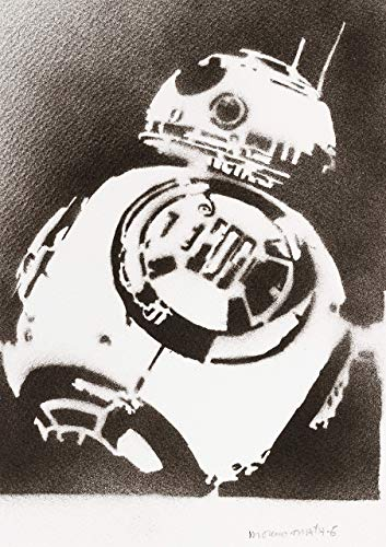 BB-8 Droid Poster STAR WARS Plakat Handmade Graffiti Street Art - Artwork
